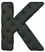 image of letter k  - Luxury black leather font K letter isolated on white - JPG