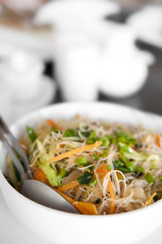 pic of stir fry  - Close up of Singapore fried rice noodles - JPG