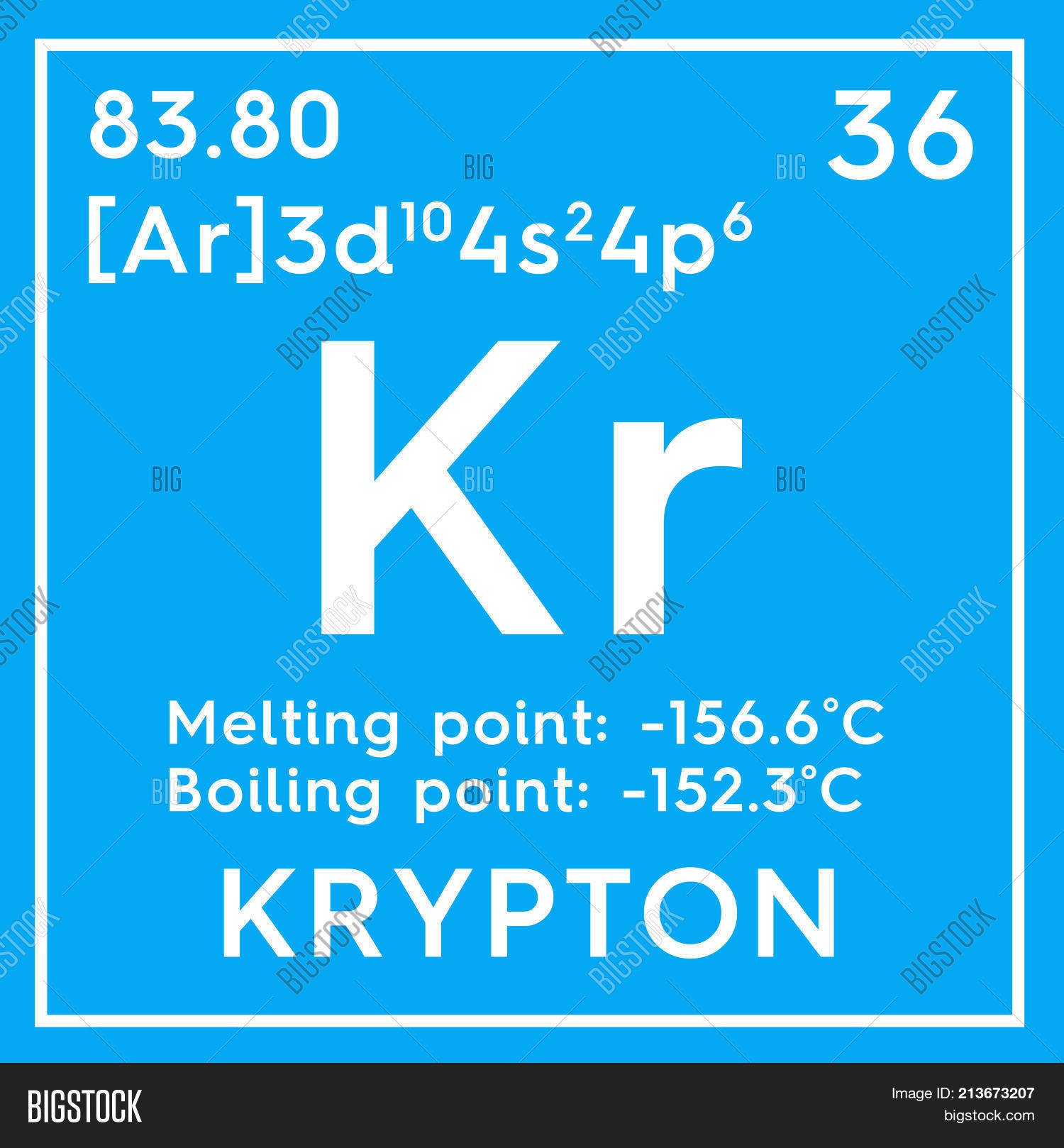 Krypton noble gases chemical image photo bigstock chemical element of mendeleevs periodic table 3d illustration gamestrikefo Images