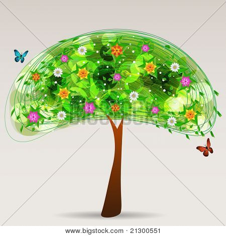Multicolor Tree