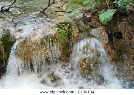 Small Waterfall In Plitvice