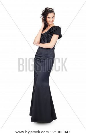 Woman In Long Elegant Dress