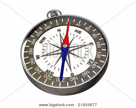 Compass On White - Clipping Path