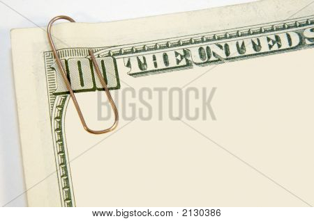 Paper Clip On Us Dollars