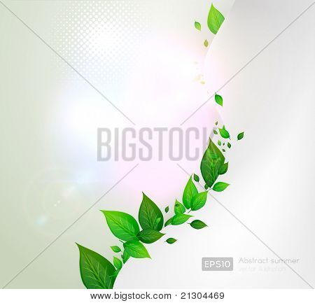 bio concept design eco friendly. for summer fresh floral design