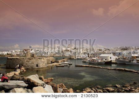 View Of Naoussa - Paros Island, Greece