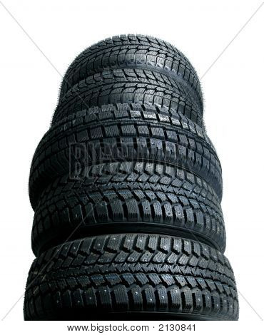 Stack Of New Tires