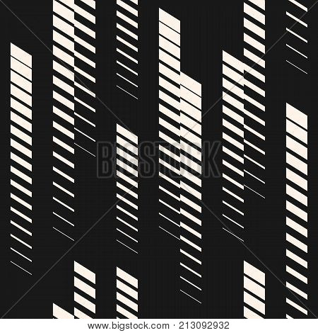 Abstract Geometric Seamless Pattern With Vertical Fading Lines Tracks Halftone Stripes Extreme Sport Style Ilration Urban Art Trendy Black White