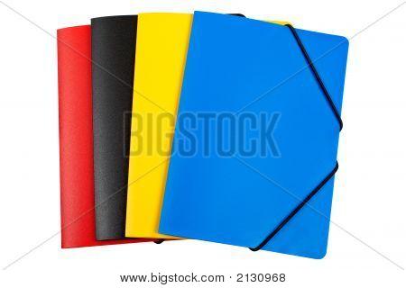 Colour Folders Isolated
