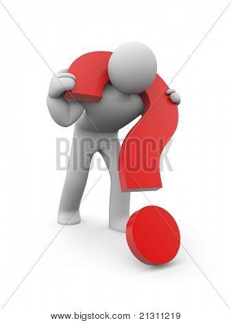 Schwierige Frage. Bild enthalten Beschneidungspfad