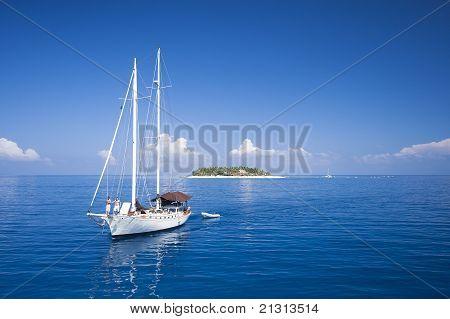 Sailing in Fiji