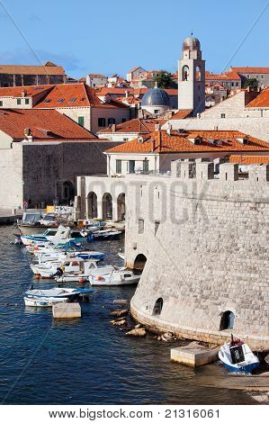 Dubrovnik Cityscape And Harbor