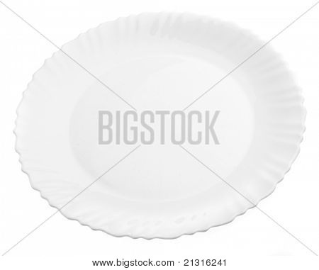 white dish isolated on a white background
