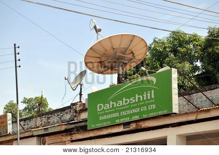JUBA â?? JUNE 10: Dahabshiil has set up business on the main banking street in Juba, capital of South Sudan. According to the company, it is the largest African money transfer business.