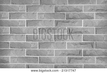 Grey stone brickwall