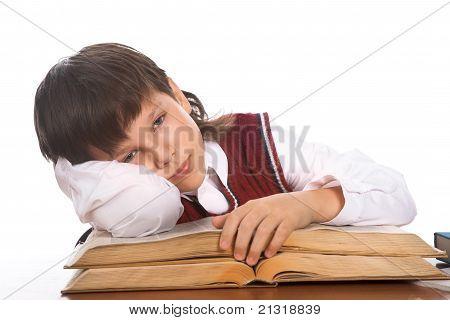 Colegial con libro