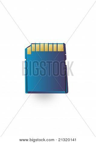 Speicherkarte ist blau
