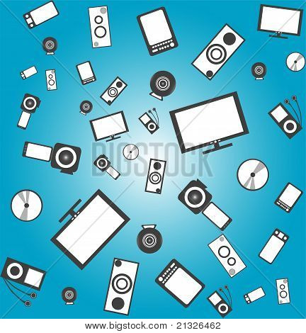 seamless electronic products background