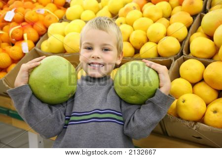 Boy With Citruses