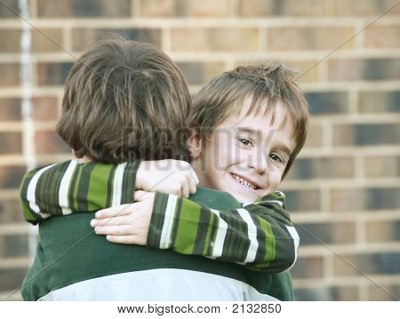 Boy Giving A Hug