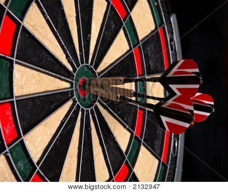 Darts In A Dartboard