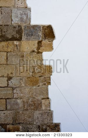 Brick Wall Versus White Painted