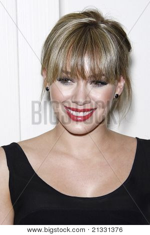 WEST HOLLYWOOD - APR 13: Hilary Duff at the Kimberly Snyder Book Launch Party For 'The Beauty Detox Solution' at The London Hotel in West Hollywood, California on April 13, 2011.