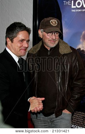 LOS ANGELES, CA - DEC 7: Brad Gray and Steven Spielberg at the premiere of 'The Lovely Bones' held at the Mann's Grauman Chinese Theater in Los Angeles, California on December 07, 2009