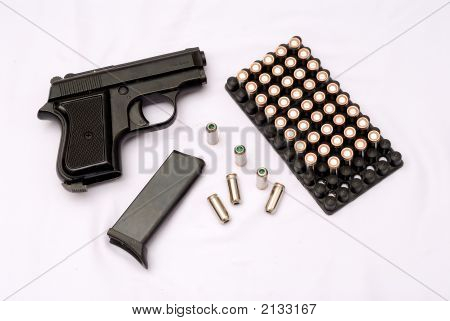Gun With Cartridges