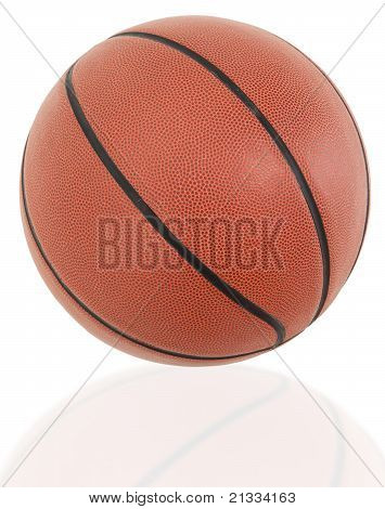 Traditional American Basketball Ball Close Up