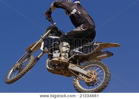 Motocross bike on a circuit