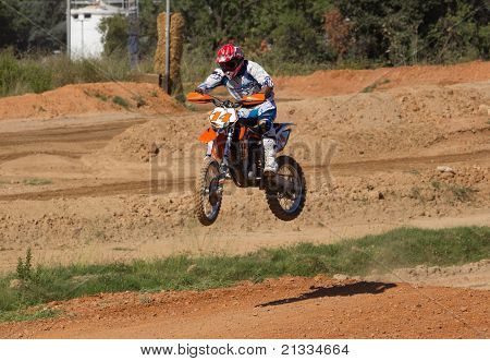 Motocross bike on a circuit