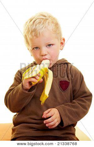 Child Eats Banana
