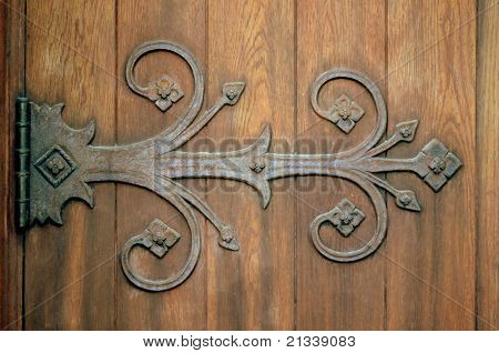 Old Wooden Door Hinge