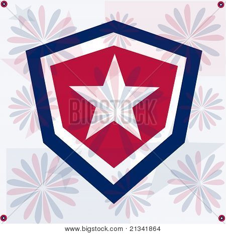 Grunge star america background independent day