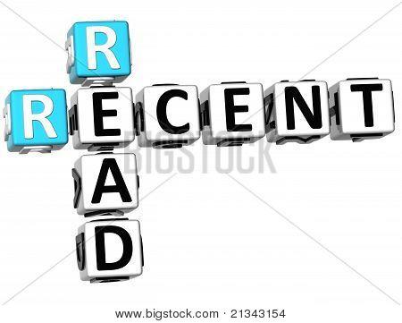 3D Recent Read Crossword