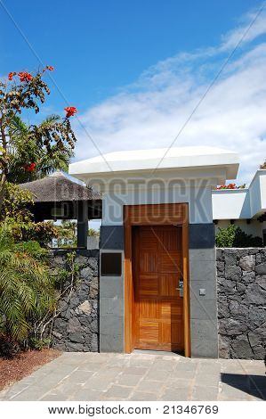 Entrance To The Area Of Luxury Villa, Tenerife Island, Spain