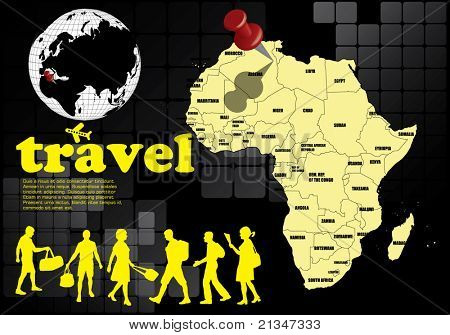 Abstract travel background with Africa