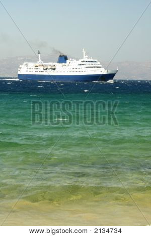 Ferry Boat - Mykonos, Greece
