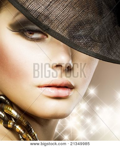 Luxo Glamour Woman.Fashion arte retrato