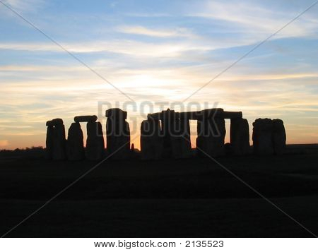 Stonehedge Just After Sunset