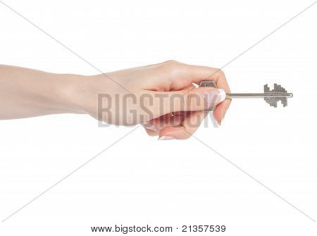 Woman Hand With Key