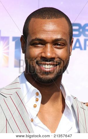 LOS ANGELES - JUN 26:  Isaiah Mustafa arriving at the 11th Annual BET Awards at Shrine Auditorium on June 26, 2004 in Los Angeles, CA