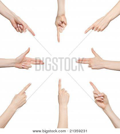 Hand Gesture Set Directions