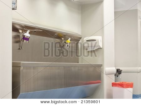 A hospital pre surgery wash station