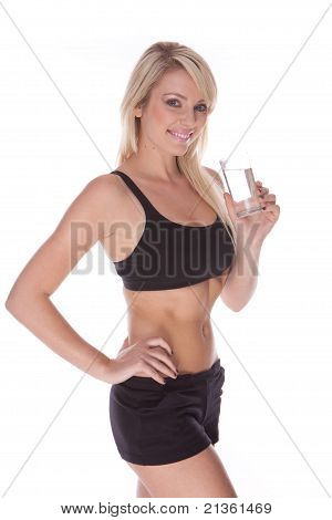 Fitness Blonde Woman
