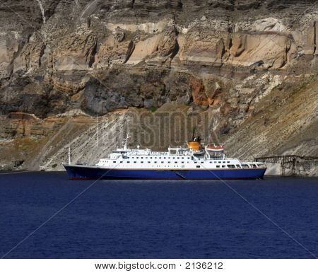 Cruise Ship - Santorini, Greece