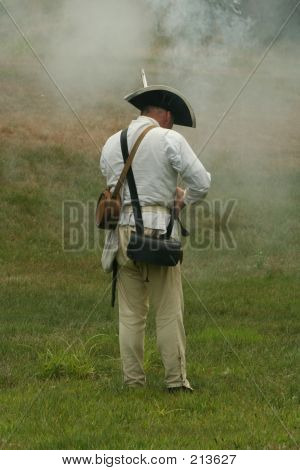 Colonial Soldier-revolutionary War Reenactment