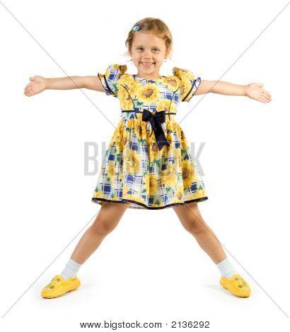Little Girl Posing Like Star