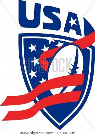 Rugby ball shield USA